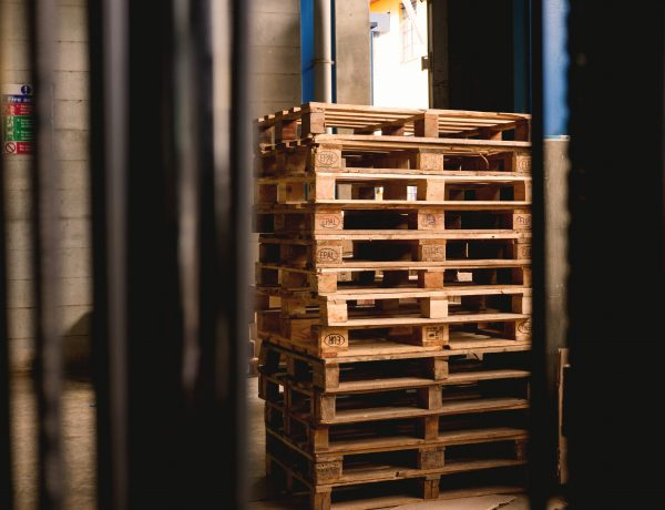 Stack of shipping pallets
